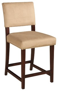 Linon Home Decor Brown Bar Counter Stools Upholstered 14060STN 01 KD U
