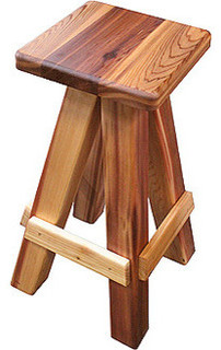Gronomics Western Red Cedar Swivel Bar Stool 17x17x31 Finished