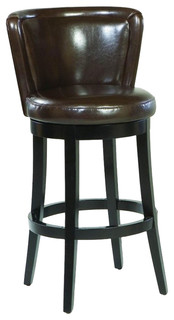 Lisbon Swivel Barstool Brown Leather Mbs 11 30 quot