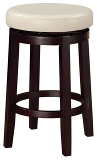 Upholstered Counter Stool Brown
