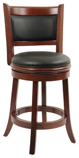 Augusta Swivel Stool Cherry