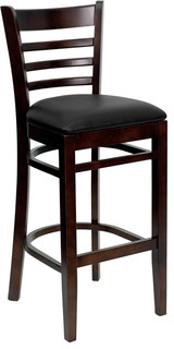 Wood Restaurant Bar Stool Black