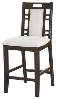 Wooden Armless High Chair Brown amp Ebony White Set of 2