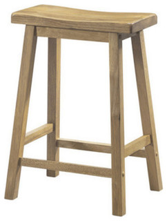 Saddle Seat Barstools 2 Piece Set Furniture 1535 Natural 24 quot