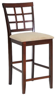 Katelyn Brown Wood Modern Counter Stool Set of 2