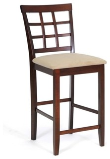 Katelyn Brown Wood Modern Counter Stools Set of 2
