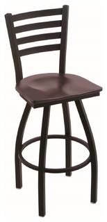 410 Jackie 30 quot Bar Stool Black Wrinkle Dark Cherry Maple Seat 360 swivel