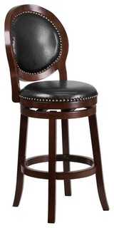 Flash Furniture 30 quot Leather Bar Stool Black and Cappuccino