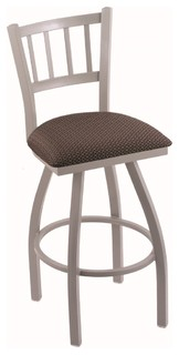 810 Contessa 25 quot Counter Stool Anodized Nickel Axis Truffle Seat 360 swivel