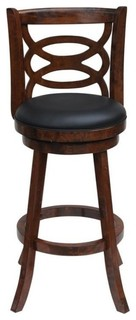 Boraam Siena Swivel Counter Stool Walnut