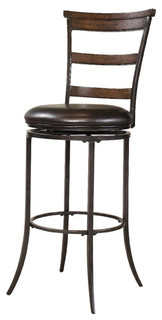 Hillsdale Cameron 26 quot Ladder Back Swivel Counter Stool