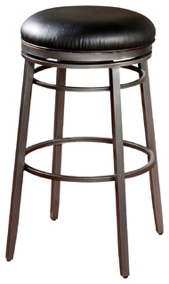 American Heritage Silvano Stool in Flint with Black Vinyl 30 Inch