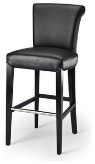 Safavieh Seth Leather Bar Stool Black