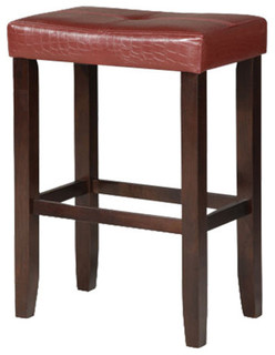 Hogan Counter Stools Set of 2 Red and Espresso