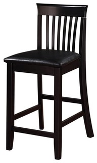 Torino Collection Craftsman Counter Stool 17 25W X 19 5D X 37H Black