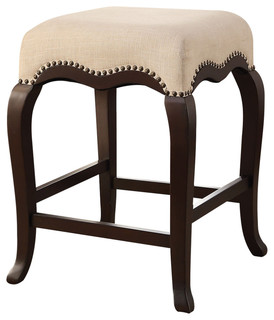 Kakabel Counter Stool Cream and Espresso