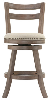 Manchester Swivel Fabric Counter Stool