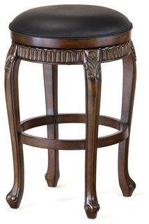 Fleur de Lis Backless Swivel Barstool