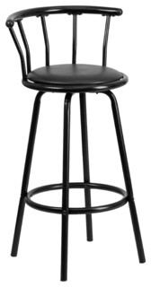 Crown Metal Swivel Bar Stool Black