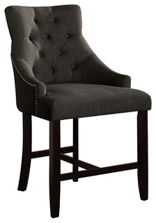Berkshire Counter Height Chairs Gray and Walnut Set of 2
