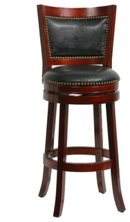 Dune Bristol Swivel Bar Stool Cherry