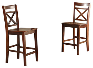 Tartys Counter Height Chair Cherry Set of 2