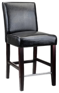 Antonio Counter Height Barstool Black Bonded Leather