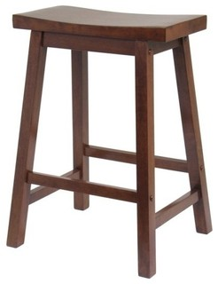 Saddle Seat Stool Single Antique Walnut 24 quot