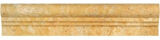 "2.5""x12"" Honed Travertine Double-Step Chair Rail Trim Set of 45"