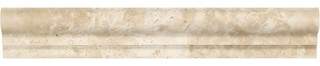 "2""x12"" Honed Durango Travertine Single-Step Chair Rail Trim Set of 40"
