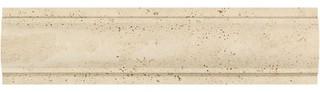 "3""x12"" Honed Ivory Travertine Arch Molding Set of 40"