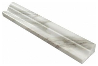 "2""x12"" Marble Crown Mercer Molding Trim Liner Honed Set of 40"