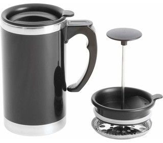Stainless Steel Lined Double-Wall Travel French Press Coffee Mug