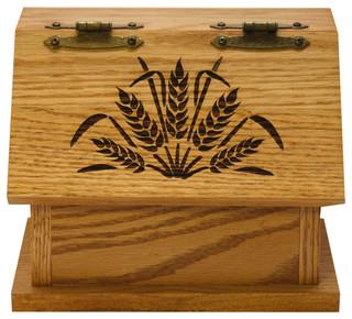 Amish Recipe Box Hand-Screened Wheat Oak hardwood Handmade