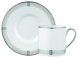Prouna Regency Platinum Espresso Cup/Saucer 2.5 Oz