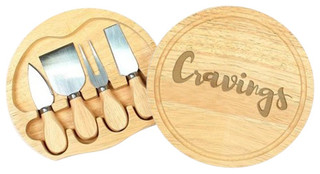 """""""Cravings"""" Gourmet 5-Piece Cheese Board Set With Utensils"""