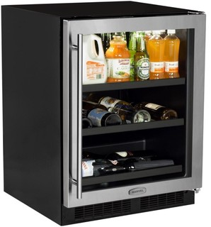 "Marvel Stainless Frame 24"" Beverage Center with 2 Adjustable Shelves"
