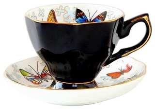 Exquisite Demitasse Cup Coffee Cup Espresso Cup and Saucer