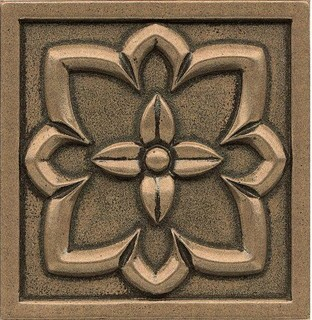 "4""x4""x7/16"" Decorative Ambiance Trim Bronze Style"