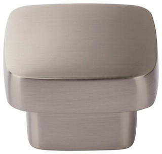 "Atlas Homewares Chunky Square Cabinet Knob 1-3/4"" Brushed Nickel"