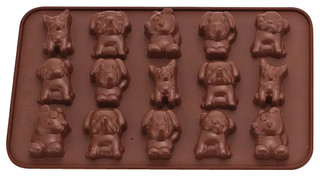 La Patisserie Silicone Chocolate Mould Dogs Set of 2