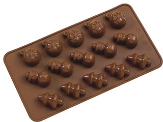 La Patisserie Silicone Chocolate Mould Christmas Set of 2
