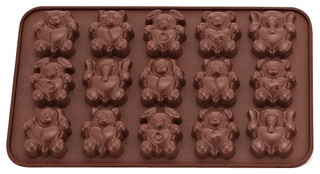 La Patisserie Silicone Chocolate Mould Animals Set of 2