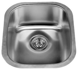 """Miseno MSS2118C 16-1/8"""" Undermount Single Basin Kitchen / Bar Sink"""