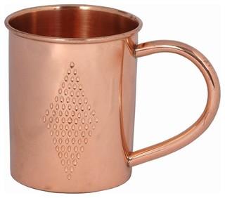 Copper Mug with Diamond Etching
