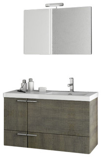 "39"" Gray Oak Bathroom Vanity Set"