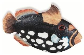 Black/White Speckles Fish Knob SD67114