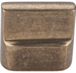 Aspen Flat Knob Light Bronze 7/8