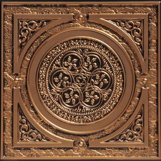 """Steampunk Faux Tin Ceiling Tile Antique Gold 24""""x24"""""""
