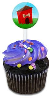 Dog House Cupcake Toppers Picks Set